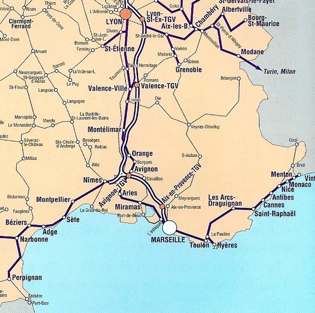 Cote Dazur French Riviera Map Carte Sud Est Nice Marseille Antibes Cannes Monaco Circuits Circuit